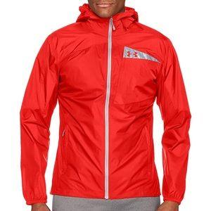 Under Armour Outerwear Red Scrambler Hybrid Jacket